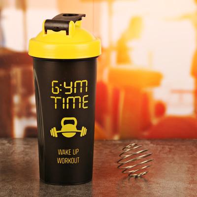 """Шейкер спортивный """"Gym time"""" с шариком, 600 мл"""