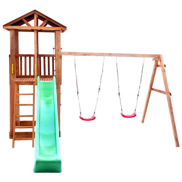 Детская площадка Можга Спортивный городок 1 с качелями (Крыша Тент)