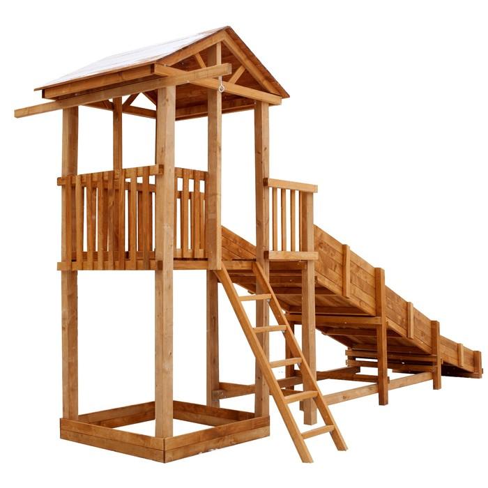 Детская площадка Можга Спортивный городок с зимней горкой и узкой лестницей