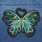 Термоаппликация «Бабочка», 15 × 12 см, цвет мятный