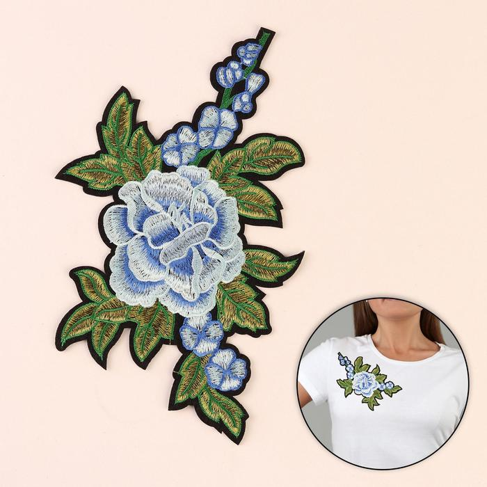 Термоаппликация «Цветы», 22,5 × 13,5 см