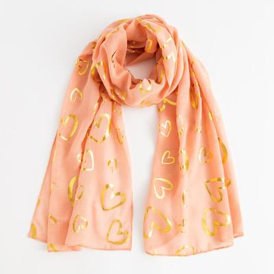 "Tippet ""Love"", size 48 x 180 cm, color: peach/gold"
