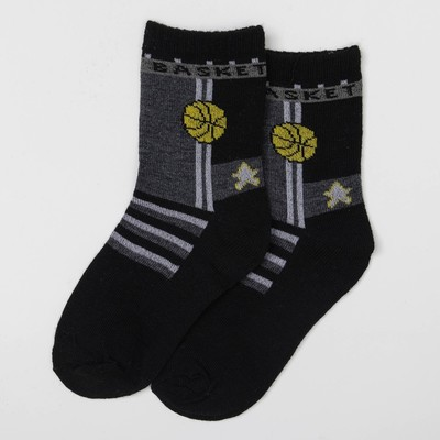"Children's socks Collorista ""Basketball"", size 20 (size manuf. 12), colour black/grey"