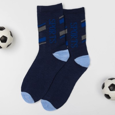 "Children's socks Collorista ""Sports"", size 22 (size manuf. 14) color dark blue"