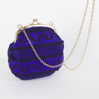 Bag for women, the division on the clasp, chain, color purple