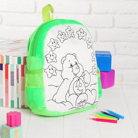 """Backpack print of painting """"Bear"""" + markers 5 colors, MIX colors"""