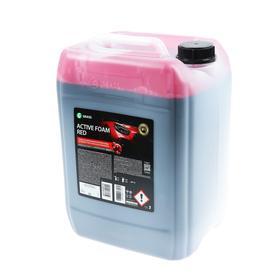 Шампунь для бесконтактной мойки Grass Active Foam Red, 22 кг, удаляет пыль, масло,насеком (1:30-1:50)