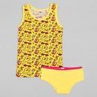Комплект для девочки (майка,трусы), рост 92 (52) см, цвет жёлтый 3163_М