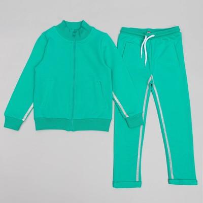 Спортивный костюм для девочки, рост 128 (64) см, цвет бирюзовый 11131