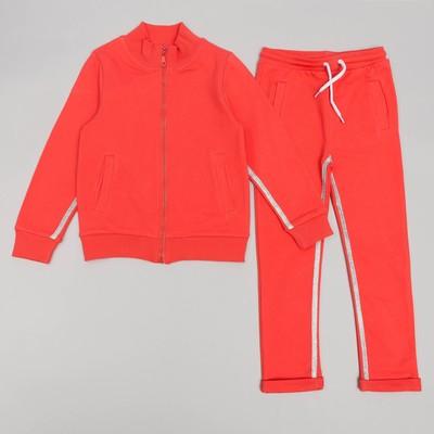 Спортивный костюм для девочки, рост 122 (64) см, цвет коралл 11131