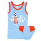 Комплект для мальчика (майка, трусы-боксеры), рост 110/116 (56) см, цвет голубой/красный 325   34457