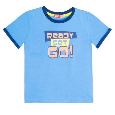 Комплект для мальчика (футболка+шорты), рост 104 (56) см, цвет голубой/синий 4218