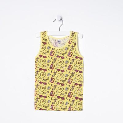 Майка для девочки, рост 110/116 (60) см, цвет жёлтый 2148