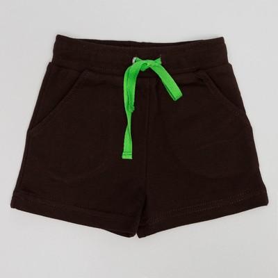 Шорты для мальчика , рост 80 (52) см, цвет кофейный 10225_М