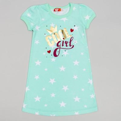 Ночная сорочка для девочки, рост 110 (60) см, цвет ментол 9155