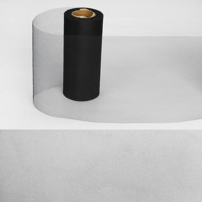Ткань для декорирования, длина 22 метра, ширина 15 см, цвет чёрный