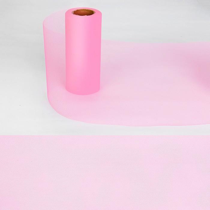 Ткань для декорирования, длина 22 метра, ширина 15 см, цвет розовый