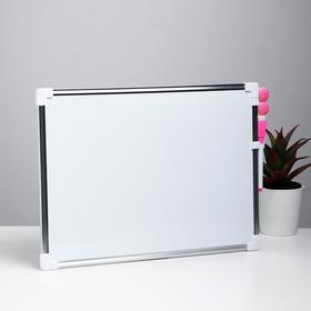 Доска магнитная, 36 × 25 см, маркер и магниты в наборе Ош