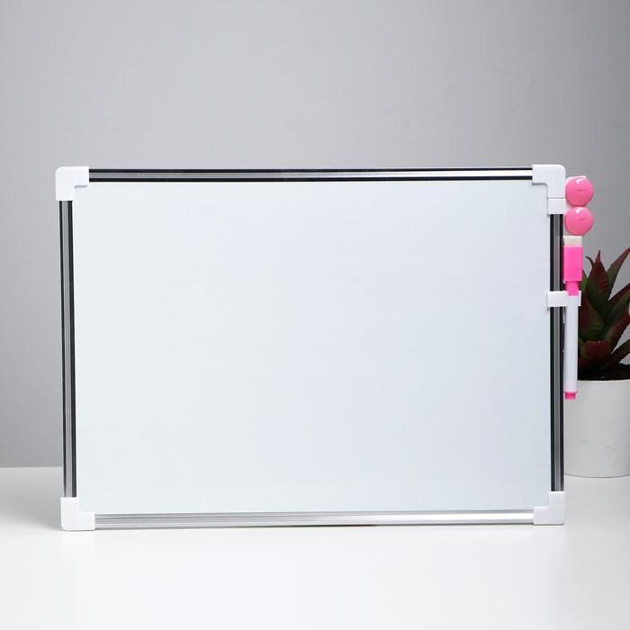 Доска магнитная двухсторонняя, 36 × 25 см, маркер и магниты в наборе, без креплений - фото 369526714