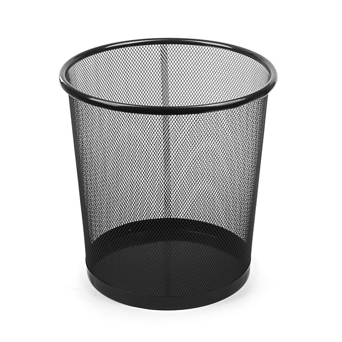 Корзина для бумаг сетка металлическая черная 15 литров
