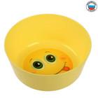 Миска детская Smiles, 430 мл, глубокая, цвет жёлтый