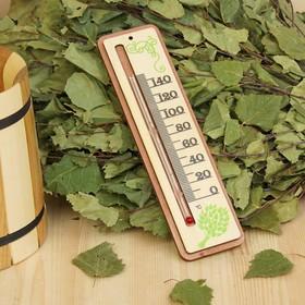 Термометр деревянный 'Веник', 19х5х1см, Добропаровъ Ош