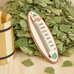 Термометр деревянный 'Ковшик', 19х6,2х1см, Добропаровъ Ош