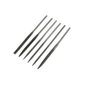 Needle file set LOM 160 x 4 mm, 6 PCs