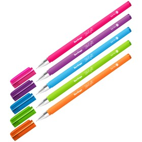 Ручка шариковая 0,7 мм, Berlingo Starlight, стержень синий, узел-игла, микс