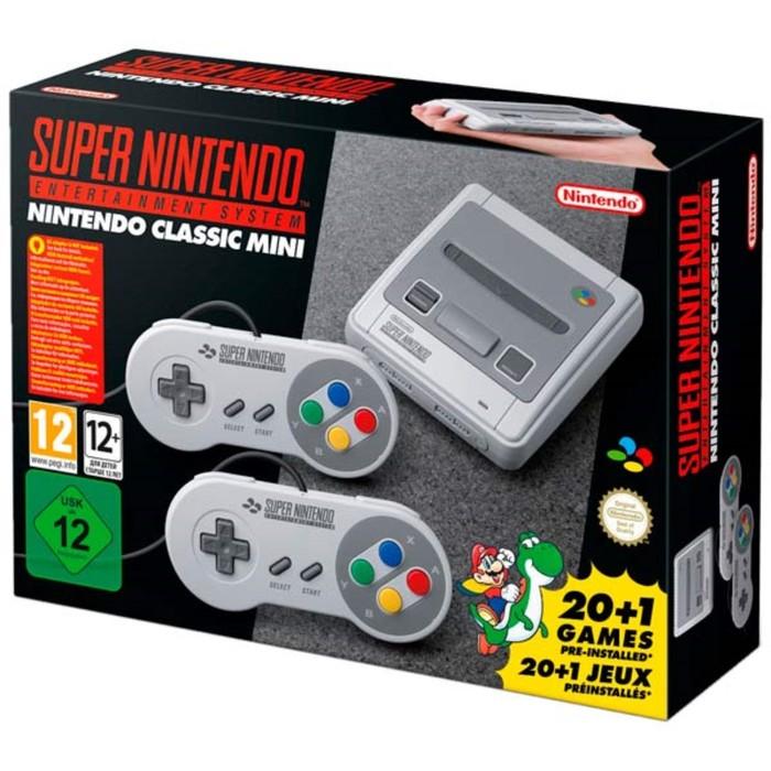Игровая приставка Nintendo Classic Mini: Super Nintendo Entertainment System, цвет серый