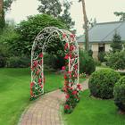 Арка садовая, 220 × 145 × 50 см, пластик, белая, «Карелия»