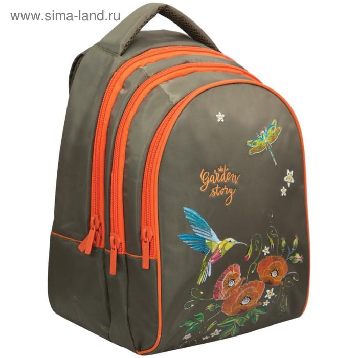 87350f9c6300 Рюкзак на молнии Berlingo Style Garden story, 3 отделения, 1 карман ...