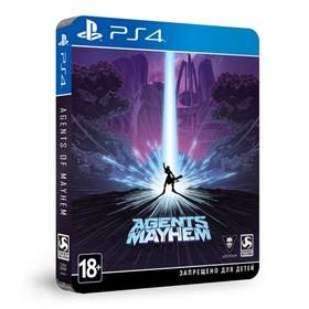 Игра для Sony PlayStation 4 Agents of Mayhem STEELBOOK ИЗДАНИЕ.