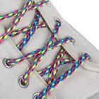 Шнурки для обуви «Плетёные», пара, круглые, d = 4 мм, 110 см, разноцветные неоновые