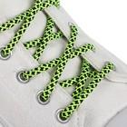 Шнурки для обуви, круглые, d = 5 мм, 110 см, пара, цвет зелёный/чёрный