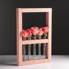 Рамка-ваза для цветов 30 х 45 см, коричневая