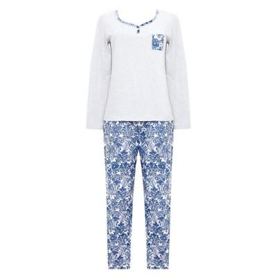 Комплект (джемпер+брюки) женский, размер 44, цвет серо-голубой Е 2200