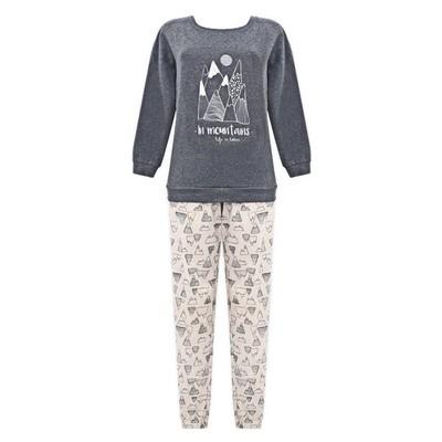 Комплект (джемпер+брюки) женский, размер 44, цвет тёмно-серый Е 2205
