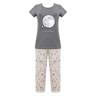 Комплект (футболка+бриджи) женский, размер 50, цвет тёмно-серый Е 2206