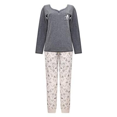 Комплект (джемпер+брюки) женский, размер 44, цвет тёмно-серый Е 2207