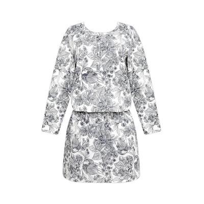 Платье женское, размер 50, принт цветы Е 5136