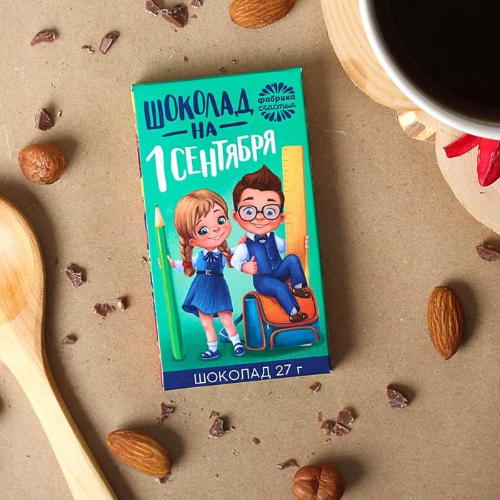 """Шоколад 27 г в коробке """"Шоколад на 1 сентября"""""""