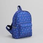 Рюкзак РД-03, 24*11*34, отдел на молнии, н/карман, Фламинго на синем