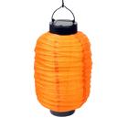 """Фонарь садовый на солнечной батарее """"Фонарик китайский оранжевый"""", 15х30 см,1 led, текстиль"""