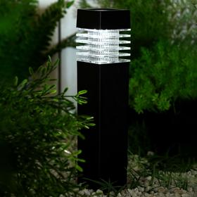 "Фонарь садовый на солнечной батарее ""Столбик"", 39 х 6 х 6 см, 1 led, пластик, Белый"