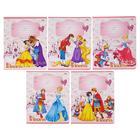"""Тетрадь 12 листoв линейка """"Принцессы и принцы"""" обложка картон хромэрзац, 5 видов"""