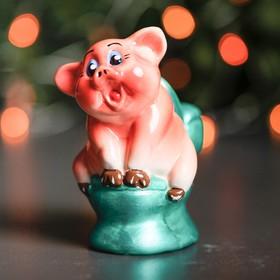 Сувенир 'Свин на унитазе', 11 см, микс Ош