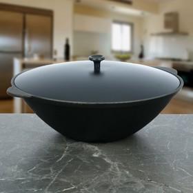 Сковорода WOK 3,5 л, с алюминиевой крышкой