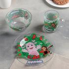 """Набор детской посуды """"Лунтик"""", 3 предмета: кружка 200 мл, салатник d=13 см, тарелка d=20 см"""
