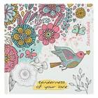 """Скетчбук 150х150 мм, 80 листов """"Птица и цветы"""", твёрдая обложка, матовая ламинация"""